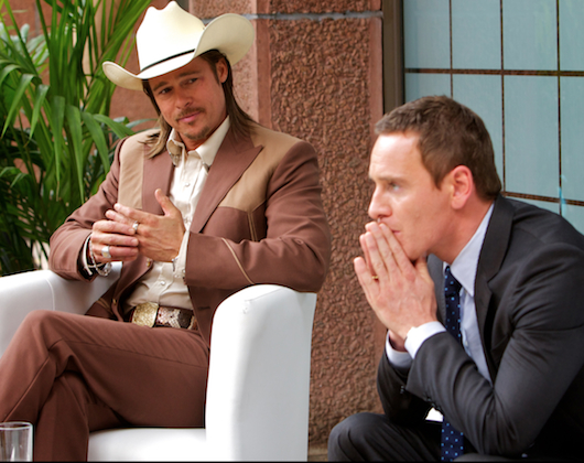 Westray-Brad-Pitt-and-the-Counselor-Michael-Fassbender-By-Kerry-Brown